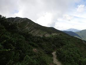 烏帽子岳への上り