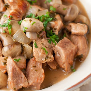 Slow Cooker Veal Stew Marsala.