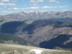 Photo: A quartet of 13ers in the Mummy Range - Ypsilon and Fairchild Mountains, Hagues Peak, and Mummy Mountain.