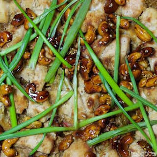 Asian-Inspired Cashew Chicken with Quinoa.