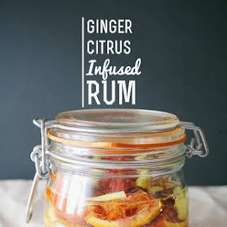 Ginger Citrus Infused Rum.