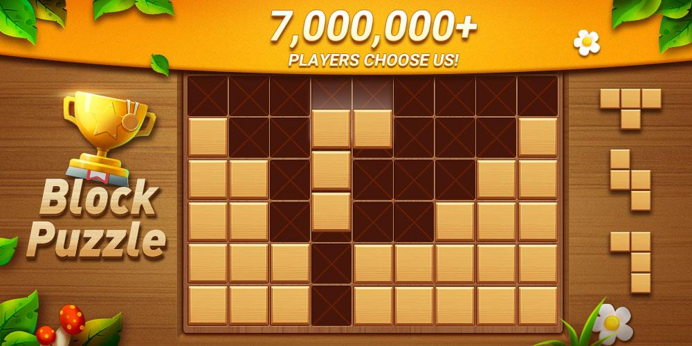 Wood Block Puzzle - Free Classic Block Puzzle Game Android App Screenshot