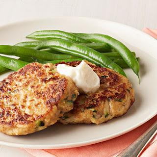 Zucchini-Salmon Cakes.