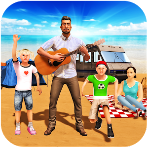 Virtual Happy Family: Holiday Camping