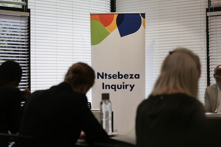 Lawyers sit in the front row during the first day of the Ntsebeza Inquiry in Sandton, Johannesburg, into the SAICA members who were KPMG employees that worked on accounts linked to the Guptas as well as the SARS rogue units. Picture: ALAISTER RUSSELL/ SUNDAY TIMES