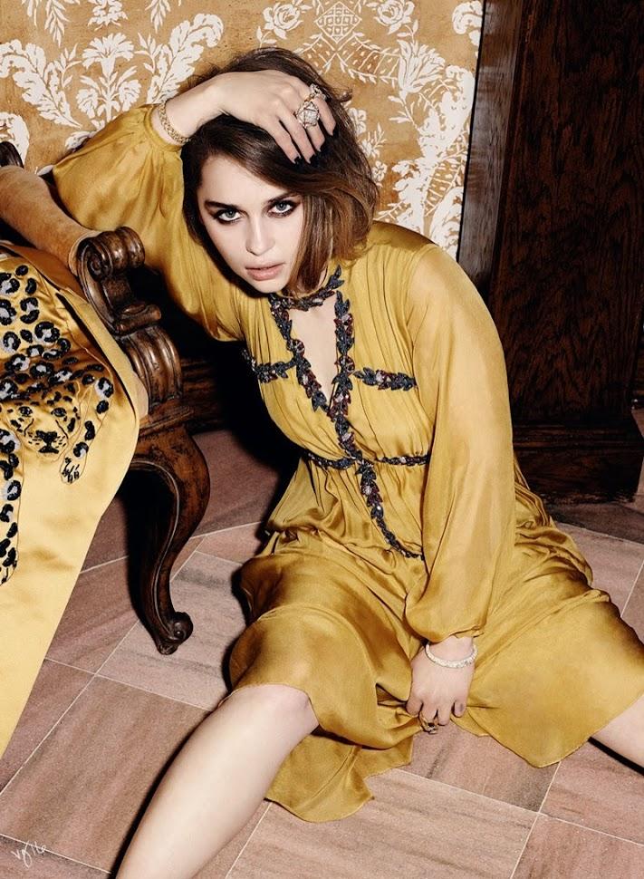 Эмилия Кларк в фотосессии Violet Grey, платье-туника