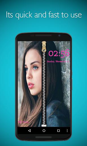 Photo Zipper Lock Screen