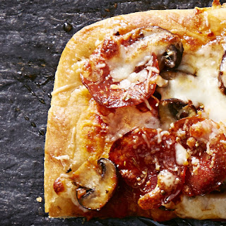 Sweet and Spicy Pepperoni-Mushroom Pizza