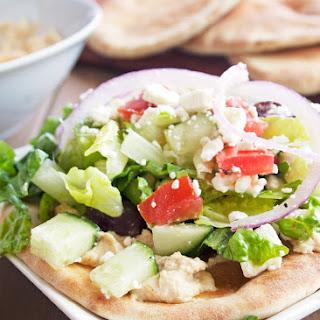 Mediterranean Flatbread Salad