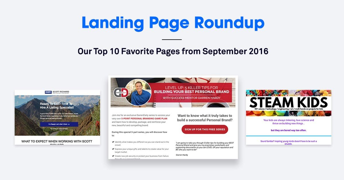 The 10 Best Landing Pages We Found in September 2016