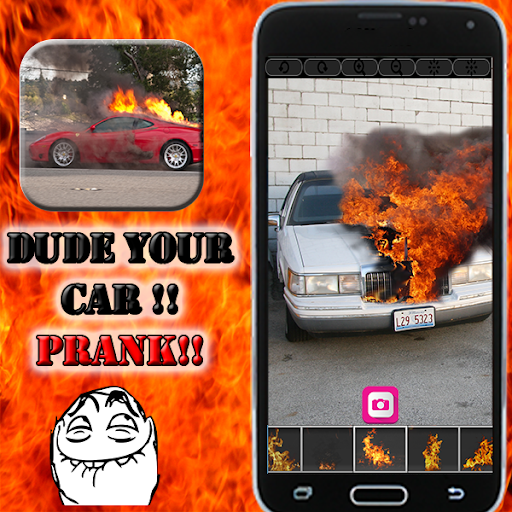 your car on fire - Prank