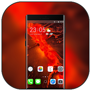 Theme for Vivo X21 V9 abstract red silt simple icon
