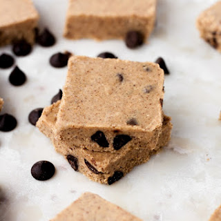 No-Bake Chocolate Chip Almond Butter Fat Bomb Bars.