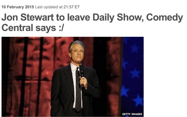 Sad News Headline