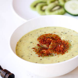 Chilled Kiwi Cucumber Soup.