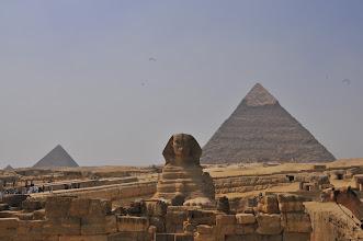 Photo: Sphinx and Pyramid of Khafre