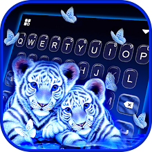 Neon Tiger Cubs Keyboard Background Download on Windows
