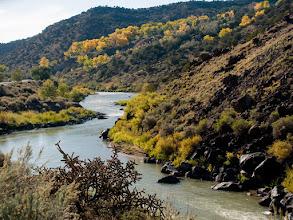Photo: Looking south, Rio Grande canyon near Velarde, NM
