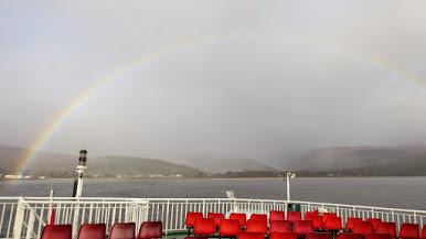 Rainbow over Brodick bay