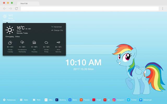 My Little Pony New Tab HD Pop Animation Theme