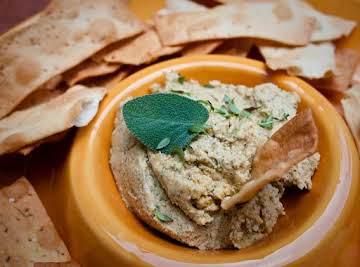 Hummus with Fresh Sage