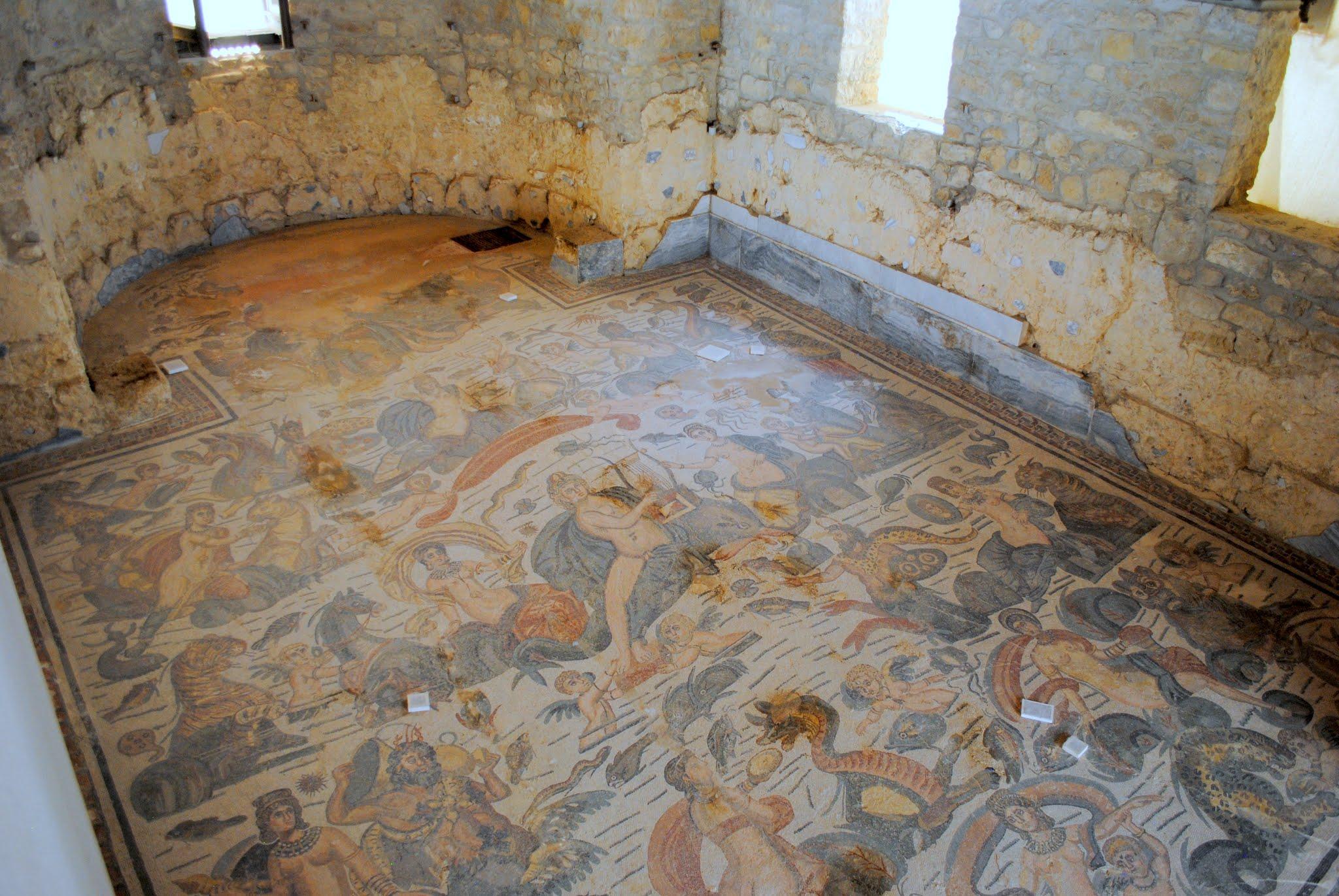 My Photos: Italy -- Mosaics -- Sicily -- Piazza Armerina -- The Room of the Arion Mosaic