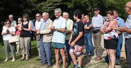Photo: Franse boeren bezoeken de camping