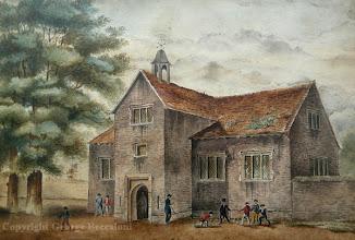 Photo: Hertford Grammar School by Eliza Dobinson c. 1815.