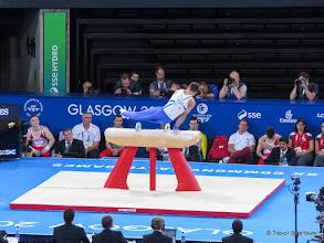 Photo: Glasgow 2014 Gymnastics. Pommelhorse. Daniel Keatings (Scotland)