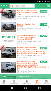 Motors.co.uk car search- screenshot thumbnail