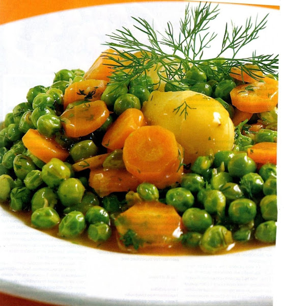 Greek Dilled Peas, Potatoes & Carrots Recipe