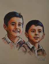 Photo: Nacho y Andrés, retrato al pastel