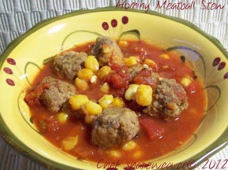 Hominy Meatball Stew Recipe