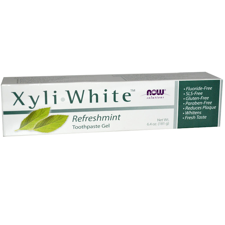 Now Foods, Solutions, Xyli-White Toothpaste Gel, Refreshmint, 6.4 oz (181 g)