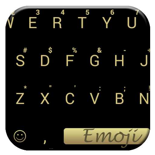 Flat Black Gold Emoji Keyboard