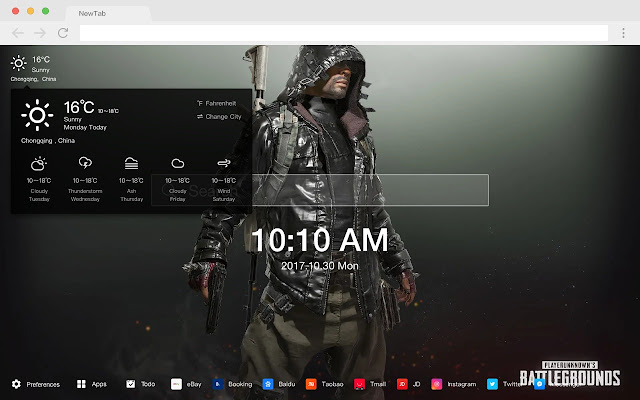 PUBG HD Pop Games New Tabs Theme