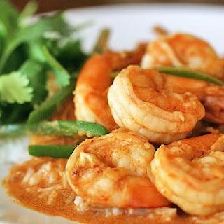 Spicy Garlic Shrimp with Coconut Rice.