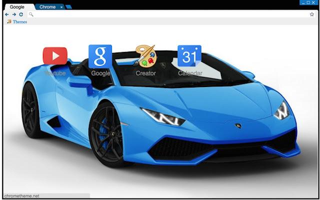very cool and nice supercar very good very sweet i like it lamborghini huracan spyder blue theme
