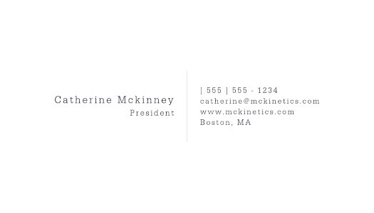 Mckinney President Back - Business Card Template