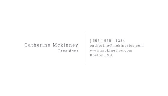 Mckinney President Back - Business Card Template