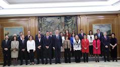 Imagen difundida por la Casa Real después de la toma de posesión del nuevo gobierno.