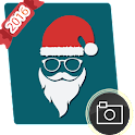 Christmas photo booth props icon