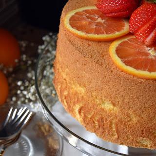 Perfect Light Fluffy Orange Chiffon Cake.