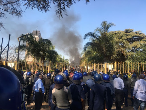 Zimbabwe police had to ask for army's help to quell protests after the violence that erupted on Wednesday