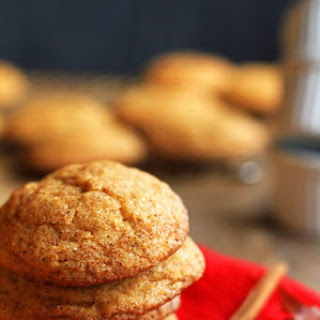 Pumpkin Snickerdoodle Cookies.