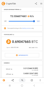 CryptoTab Browser Screenshot