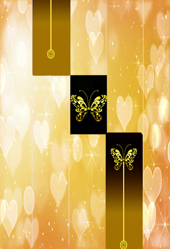 Gold Glitter ButterFly Piano Tiles 2018 1.4 DreamHackers 5