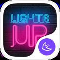 Shine Neon Lights Theme & HD Wallpapers icon