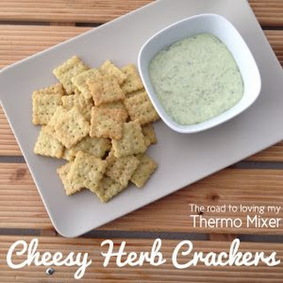 Cheesy Herb Crackers.