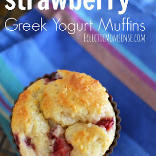 Strawberry Greek Yogurt Muffins